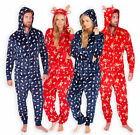 ONEZIE Ladies Mens Novelty Christmas Santa Onezee All in One Fleece Lounge Wear
