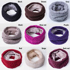 Women Fashion Winter Rabbit Velvet Knitted Infinity Scarf Cotton Circle Scarves