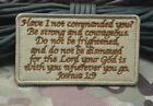 Embroidered JOSHUA 1:9 Army Combat USA Military INFIDEL Hook Loop Patch Badge