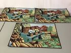 NWOT USA Made 3 Tapestry Placemats Pumpkin Country #588Z