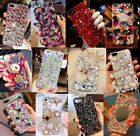 Girl's Luxury Bling Diamond Crystal Jewelled Back Case Cover for iPhone/Samsung