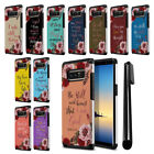 For Samsung Galaxy Note 8 N950 Bible Verses Design Bumper Protective Cover + Pen