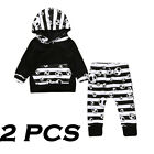 Halloween Toddler Baby Boys Tops Hoodie Pants Home Outfits 2Pcs Set Clothes 0-2T
