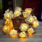 20 LED Battery Rose Flower String Lights Wedding Party Christmas Decoration DH