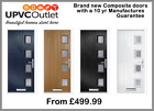 MODERN COMPOSITE FRONT DOOR SETS - LOWER PRICE BRAND NEW - 10 YEAR GUARANTEE