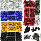 M5 M6 Alloy Motorcycle Complete Fairing Bolts Kit Bodywork Screws Nuts For Honda