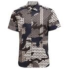 6280T camicia uomo NEIL BARRETT manica corta multicolor shirt short sleeve men