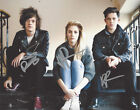 LONDON GRAMMAR BAND SIGNED AUTHENTIC 8X10 PHOTO D COA BRITISH INDIE POP GROUP X3