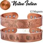 MAX THERAPY 12 MAG PURE COPPER MAGNETIC INDIAN BANGLE/BRACELET MEN ARTHRITIS CB9 image