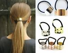Gothic Metal Punk Ponytail Holder Hair Gold Silver Pony Elastic band Holder Cuff