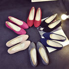Women Slip On Flat Shoes Sandals Casual Candy Color Ballet Flats Pump Size 5.5-9