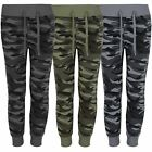 Kids Teenagers Camo Print Tracksuit Bottoms Girls Boys Jogging Sweatpants 3-14 Y