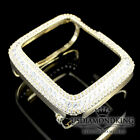 Ladies Apple Watch Yellow White Gold On Stering Silver 38mm Bezel Lab Diamonds