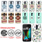 For LG K10 Premier LTE L62VL Custom Personalized Monogram Letters Case Cover