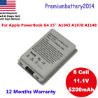 """New 5200mAh Laptop Battery for Apple PowerBook G4 15"""" A1045 A1078 A1148 Silver"""