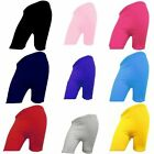 Ladies Womens Girls Cotton Lycra Cycling Shorts School Gym Yoga Dance Shorts