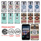 For LG Stylo 3 Plus/ Stylo 3/ Stylus 3 Custom Monogram Letters Bumper Case Cover