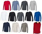LADIES LONG SLEEVE, CREWNECK, COTTON/POLY WAFFLE THERMAL T-SHIRT PREWASHED S-2XL