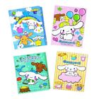 CINNAMOROLL NOTEPAD 4 DESIGNS IN ONE FOLDABLE BOOKLET (4 X 20 = 80 SHEETS)