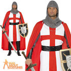 Medieval Knight St Georges Day Hero Mens Fancy Dress Soldier Outfit England New