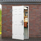 Garage Side Door - 6 Georgian Panel - Lathams Multi Point Locking Steel Security