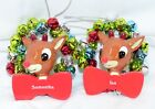 Rudolph The Red Nosed Reindeer Personalized Ornaments Names P - Z