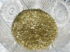 Real German GLASS GLITTER  Medium Bright Gold 1 Ounce 70 Grit