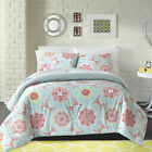 Grenada 200 TC 100% Cotton Pink Blue Medallion Comforter Sham Set