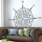Mandala Compass Rose Vinyl Wall (or Ceiling) Decal - fits living room +more K691