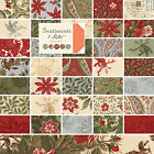 Moda 3 Sisters Christmas Sentiments Quilting Fabric Fat Quarter Bundles