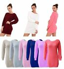 Women Oversized Chunky Knitted Jumper Dress Long Sleeve Ladies Long Sweater Top