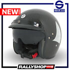 SPARCO CLUB CARBON EDITION Helmet J1 J-1 Open Face Jet with Googles Rally Track