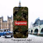 Red Supreme Camoflage Camo Phone Case Cover