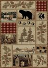 Wildlife Bear Rug Various Sizes and Shapes with FREE Shipping