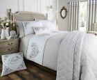 White / Khaki Valentina Collection Gingham Country Bedding Sets