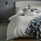 Niki Jones Concentric Cotton Bedding, Silver Duvet Quilt Cover Bedding