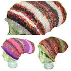 Oversized Beanie Hat Wool and Silk Knitted Dreadlocks Warm Winter Hippy Baggy