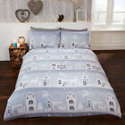 Silver Reindeer Road Brushed Cotton Duvet/Quilt Cover With Pillow Cases