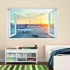 Airport Airplanes Sunset Wall Sticker Mural Decal Kids Bedroom Home Decor Cm6