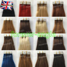 """Tape in Skin Weft Real Remy Human Hair Extensions Straight 20Pcs 7A Grade14""""/24"""""""