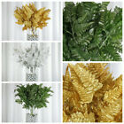 12 Branches Leather Fern Greenery - 3 Colors HOME DECORATIONS WEDDING DIY CRAFTS