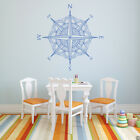 Mandala Compass Rose Vinyl Wall (or Ceiling) Decal - fits playroom + more K691