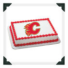 CALGARY FLAMES NHL Edible Image Cake Topper Photo Icing Frosting Sheet $8.5 USD on eBay