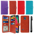For Samsung Galaxy S5 Sport G860 Flip Holder Wallet Cover Case Wrist Strap + Pen
