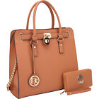Dasein Large Satchel with Matching Wallet 5 Colors