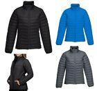 LADIES WICKING, ZIP PUFFER JACKET, QUILTED LINING, POCKETS, DRAWCORD HEM, XS-4XL