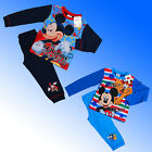 Boys Official Genuine Disney Mickey Mouse Pyjamas Age 18 Months 1 2 3 4 Yrs AOP