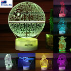 Star Wars Star Trek Uss Enterprise 3D LED Night Light Touch Table Desk Lamp Gift