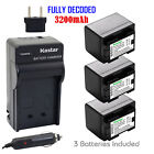 canon legria hf m406 - Kastar 3 Battery & Normal Charger kit for Canon BP-727 BP727 CG-700