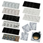 4pc Set Marble Absorbent SQUARE Ceramic Stone Coasters Mug Cup Hot Cold Drinks